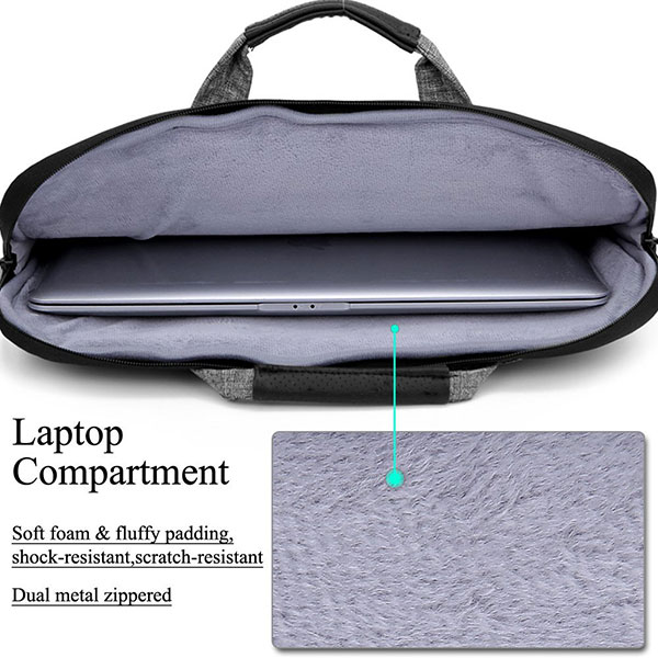 5cbf220821e2 Multi-functional Suit Fabric Portable Laptop Sleeve Case Bag for ...