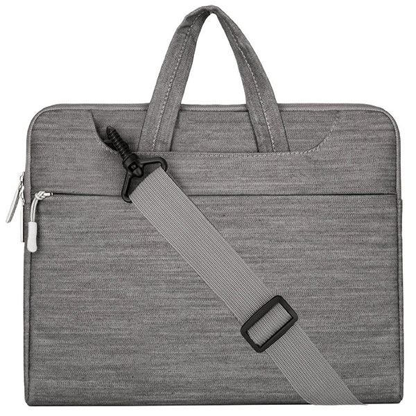 Laptop Shoulder Bag / Briefcase, Denim Fabric