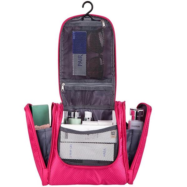 Women's travel cosmetic bag organizer
