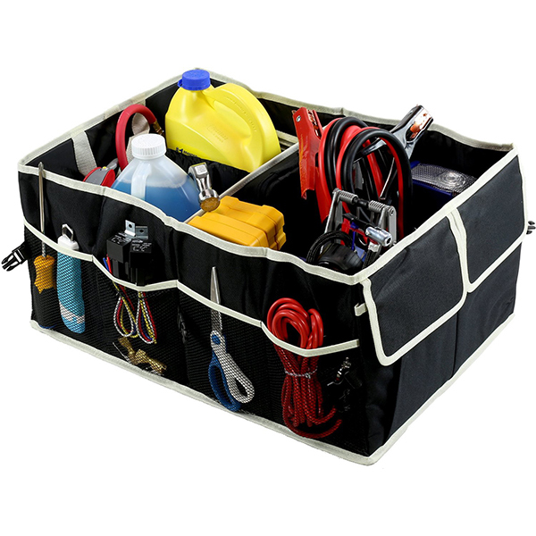 Wholesale 3-Sections Collapsible Car Trunk Organizer for Auto Cargo