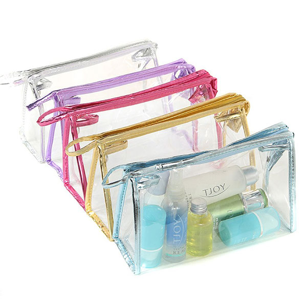 <b>Clear Transparent PVC Cosmetic Bag Organizer Makeup Bag Pouches Bag Tote Bag for Travel with Stylus</b>