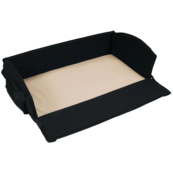 baby travel bed Anywhere Bed, Black with Khaki Sheet