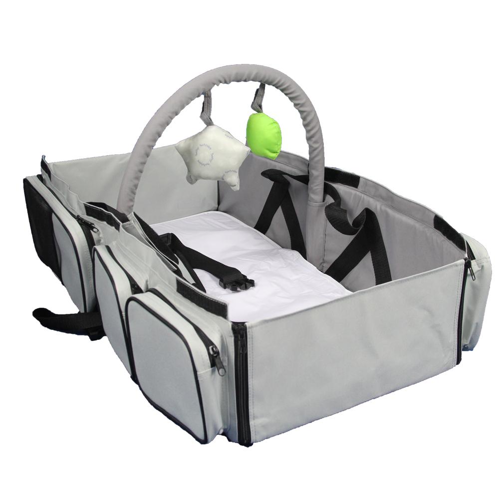 - ECDB001 3 In 1 Diaper Bag Multi-purpose Baby Travel Carry Cot Bed