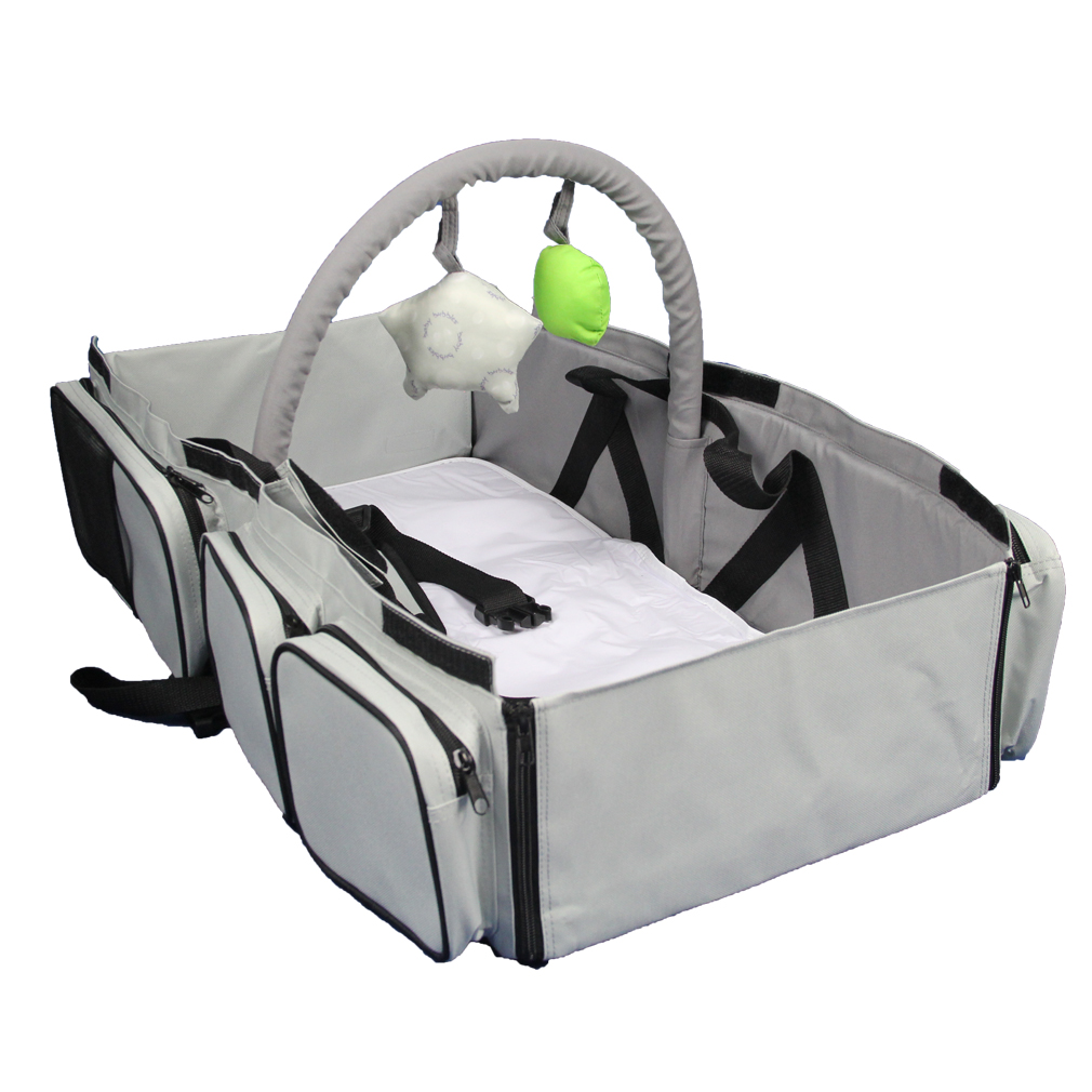 ECDB001 3 in 1 diaper bag Multi-purpose baby travel Carry cot bed fold and go Travel Bassinet Factory