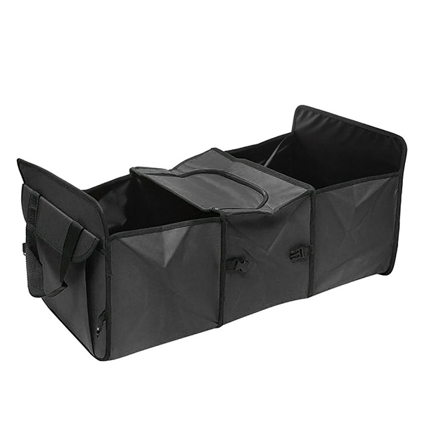 3-Compartments Storage Basket Car Trunk Organizer with Cooler Set