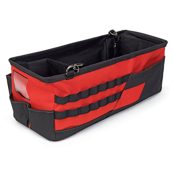 Removable auto trunk organizer for tool carrier