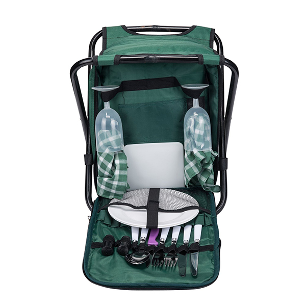 Foldable 2 Person Picnic cooler Backpack with
