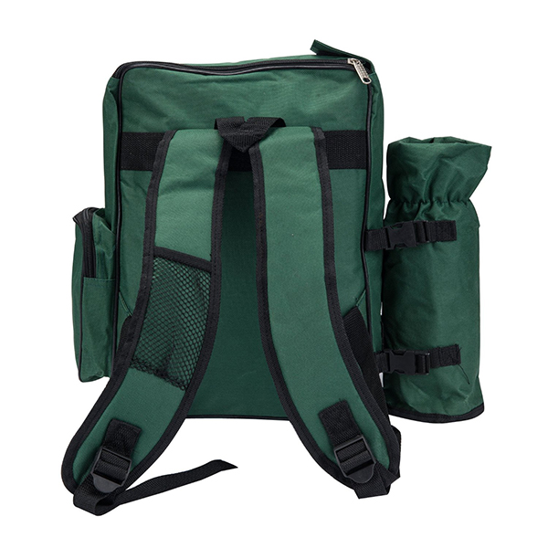 4 Person Picnic Backpack With Cooler Compartment-2