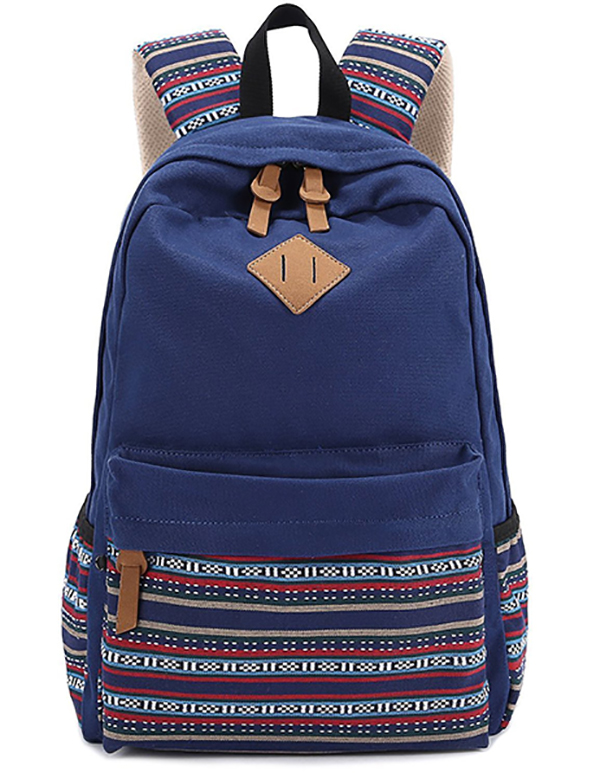 canvas backpack school bag-1