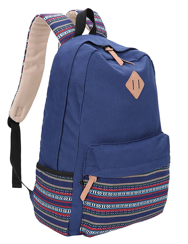 canvas backpack school bag-2