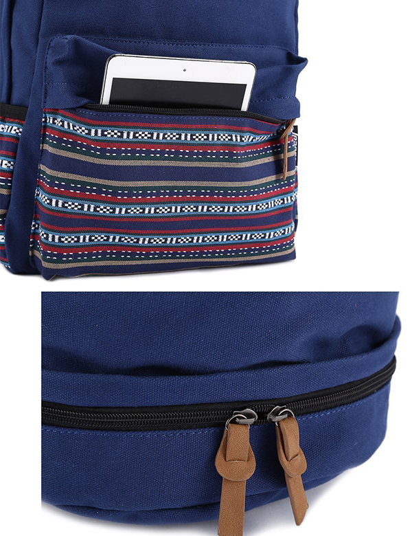 canvas backpack school bag-3