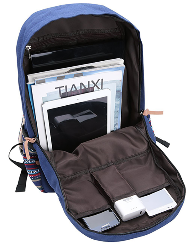 canvas backpack school bag-4